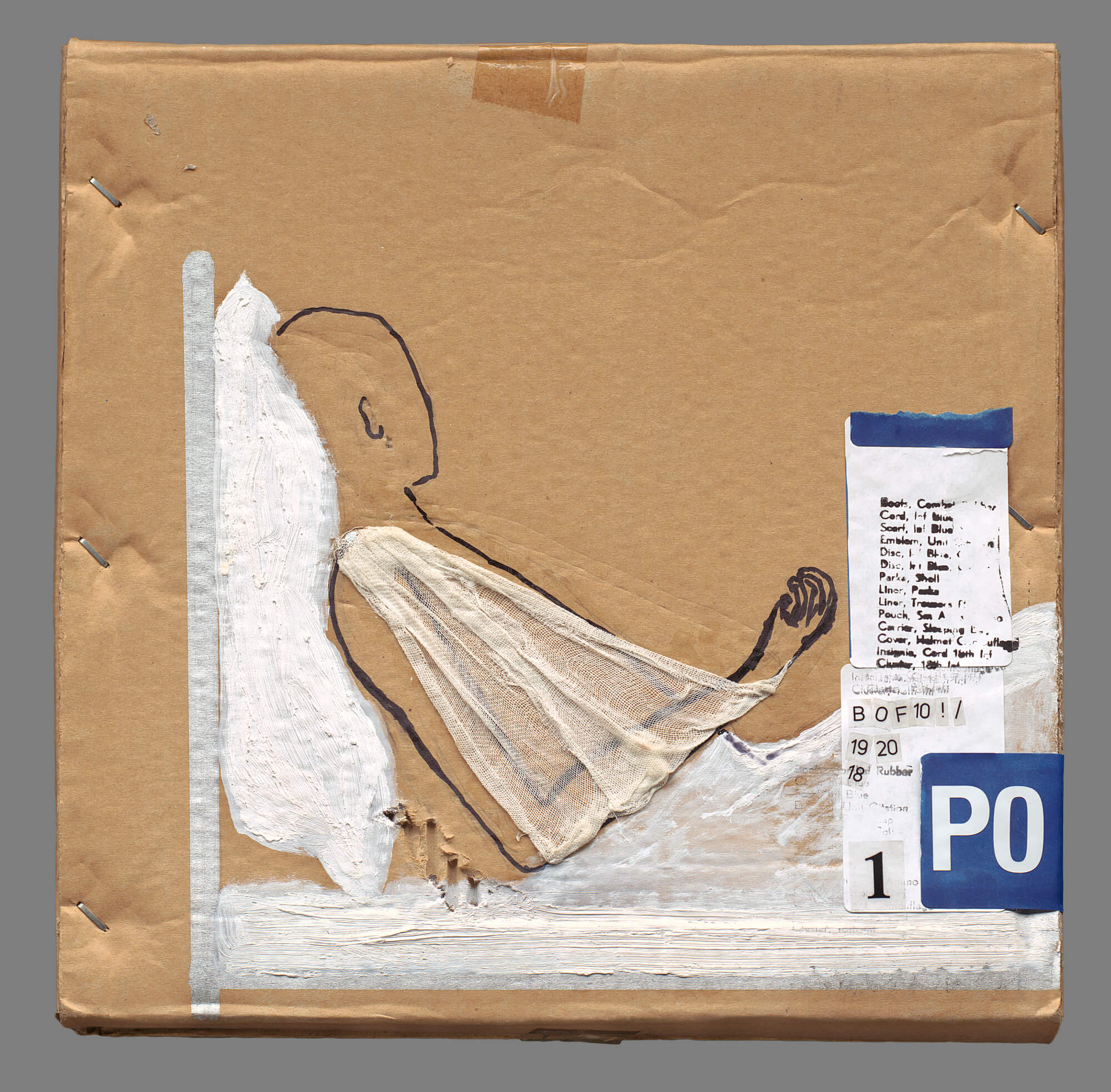 Untitled 2009 Mixed technique on carton box 32X32
